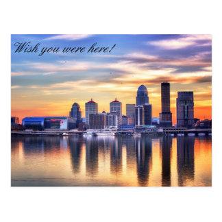 Carte postale d'horizon de Louisville