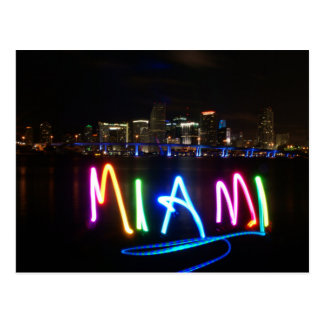 Carte postale d'horizon de Miami