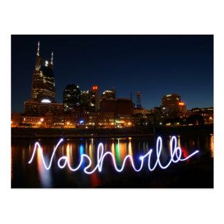 Carte postale d'horizon de Nashville