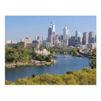 Carte postale d'horizon de Philadelphie