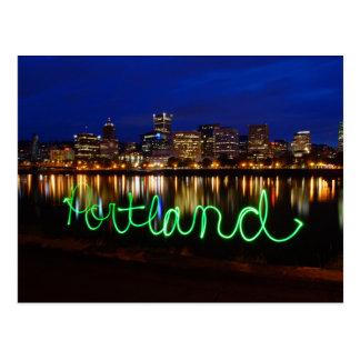 Carte postale d'horizon de Portland