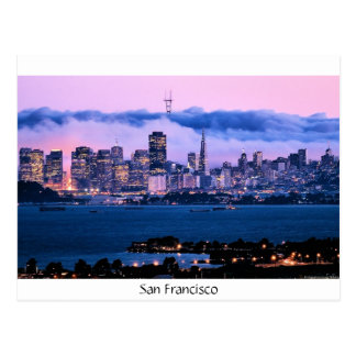 Carte postale d'horizon de San Francisco