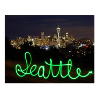 Carte postale d'horizon de Seattle