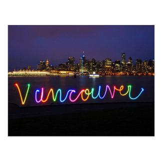 Carte postale d'horizon de Vancouver