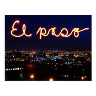 Carte postale d'horizon d'El Paso