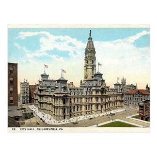 Carte postale d'hôtel de ville de Philadelphie