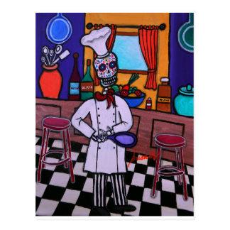 Carte Postale Dia de los Muertos Chef