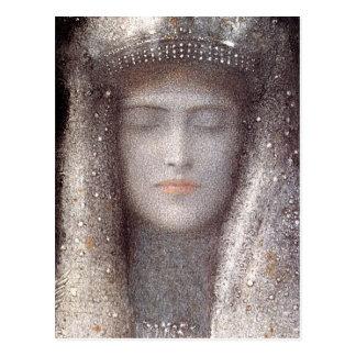 Carte Postale Diadème argenté par Odilon Redon symboliste