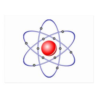 Carte Postale Diagramme d'atome de la Science