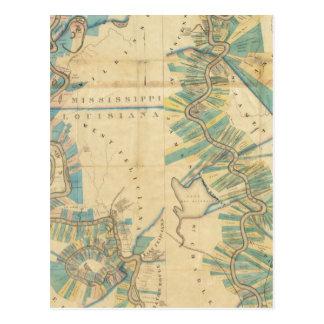 Carte Postale Diagramme du fleuve Mississippi inférieur