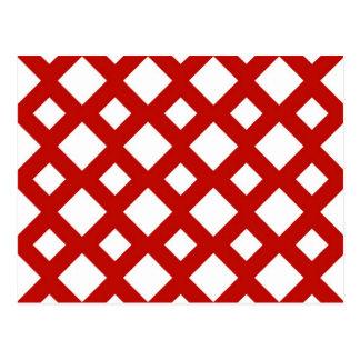 Carte Postale Diamants blancs sur le rouge