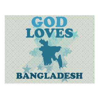 Carte Postale Dieu aime le Bangladesh