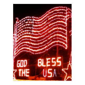 Carte Postale Dieu bénissent les Etats-Unis