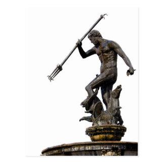 Carte Postale Dieu de Neptune de la statue de mer
