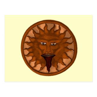 Carte Postale Dieu de The Sun (Ra) (bronze)
