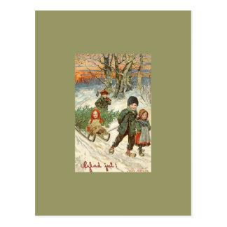 """Carte Postale """"Dieu juillet !"""" ou enfants minuscules dans la"""