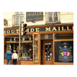 Carte Postale Dijon, magasin de moutarde
