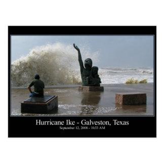Carte postale d'Ike d'ouragan