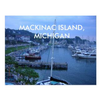 CARTE POSTALE D'ÎLE DE MACKINAC, MICHIGAN