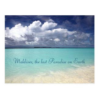 Carte postale d'île de paradis des Maldives