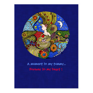 Carte postale d'illustration de grossesse