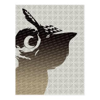 Carte postale d'illustration de hibou