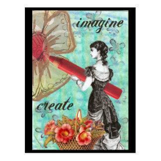 Carte postale d'imagination et de création