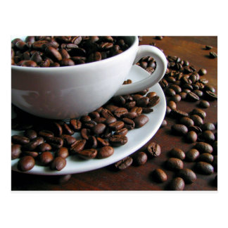 Carte postale d'impression de grains de café