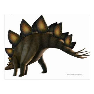 Carte Postale Dinosaure de Stegosaurus, illustration