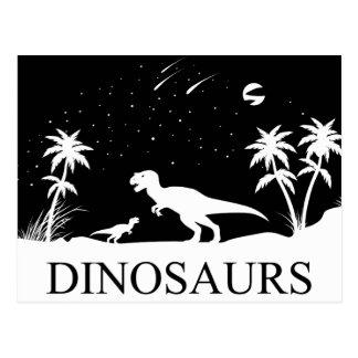 Carte Postale Dinosaure sous les étoiles