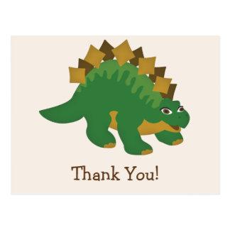 Carte Postale Dinosaure vert, Merci de Stegosaurus