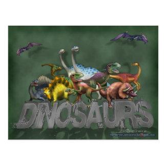 Carte Postale Dinosaures