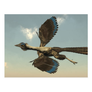 Carte Postale Dinosaures d'oiseaux d'archéoptéryx volant - 3D
