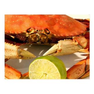 Carte postale d'invitation de festin de crabe