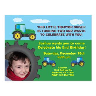 Carte postale d'invitation de fête d'anniversaire