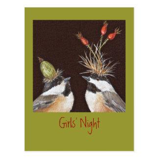 Carte postale d'invitation de la nuit des filles