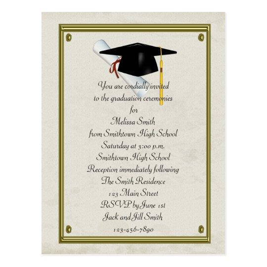 Invitation Letter For High School Graduation Doc