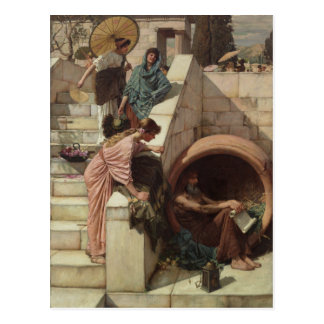 Carte Postale Diogène par John William Waterhouse