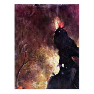 Carte Postale Diptyque avec des scènes d'enfer