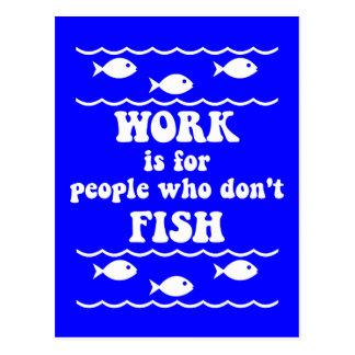 Carte Postale Dire drôle de pêche