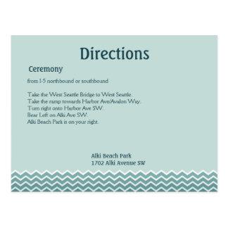 Carte Postale Directions de mariage de queue de baleine