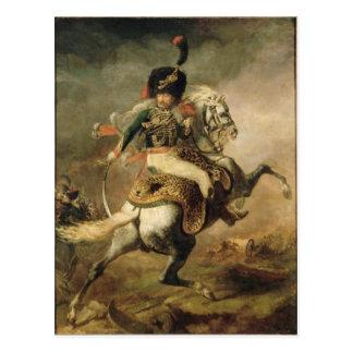 Carte Postale Dirigeant du Chasseurs chargeant à cheval