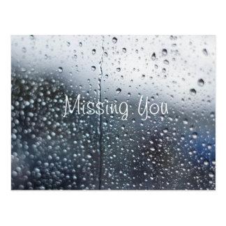 Carte Postale Disparus personnalisables que vous pleuvoir