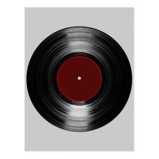 Carte Postale disque vinyle