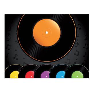 Carte Postale Disques de plaque tournante dans des couleurs