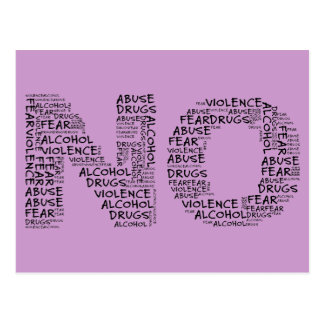 Carte Postale Dites non à la violence, à l'abus, aux drogues, à