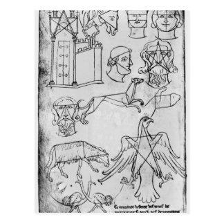 Carte Postale Divers dessins de Mme Fr 19093 fol.18v