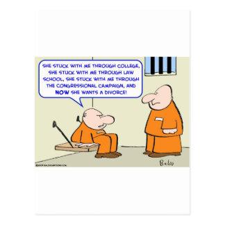 Carte Postale divorce de politicien de prison