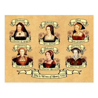 Carte Postale Divorcé, décapité, mort… Épouses de Henry VIII