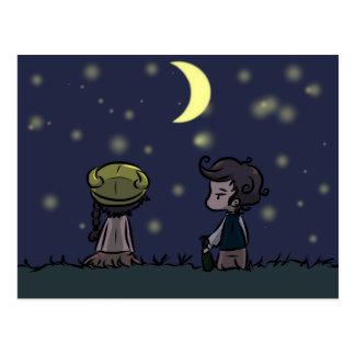 Carte postale d'observation des étoiles